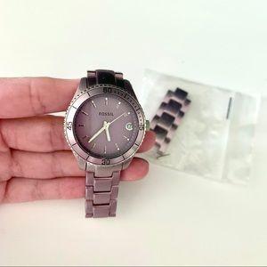 Purple Fossil Watch